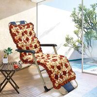 55x165cm Lounger Cushion Pad Sun Rocking High Back Chair Sofa Outdoor Patio Peony