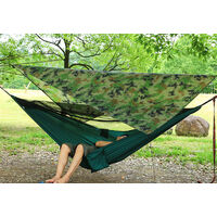 Outdoor Hammock Canopy Hammock with Mosquito Net camouflage+Army green)