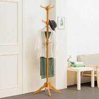 12 Hooks Coat Rack Stand Clothes Hat Jacket Vintage Bamboo Hanger 60*180cm