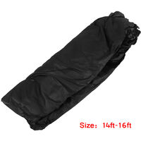 14-16ft 600D Waterproof Boat Cover w/ Bag Black