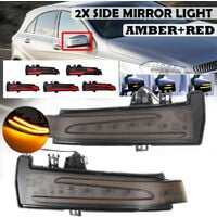 LED Side Mirror Indicator Turn Signal Light For Mercedes W204 W212 W221 W246 W176 Amber + Red