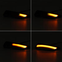 Pair Side Wing Mirror Indicator Turn Signal Dynamic Light For Ford Fiesta B-Max 2008-2017