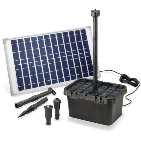 Filtre de bassin solaire Professional 25W 100902 l/h Pompe de bassin de jardin esotec 100902