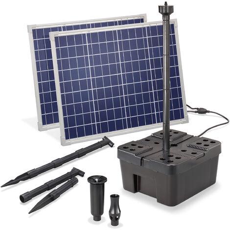 Kit filtre solaire pour bassin Professional 100W 3400 l/h Pompe de bassin pour jardin 100911