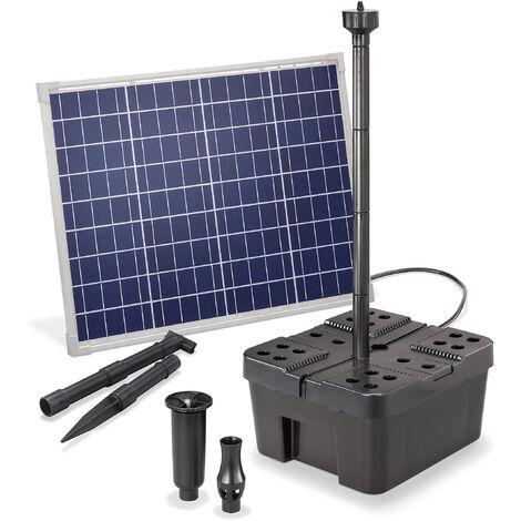 Filtre de bassin solaire Professional 50W 2500 l/h Pompe de bassin de jardin esotec 100910