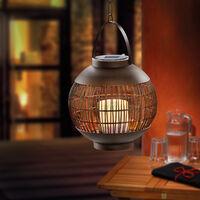 Suspension solaire lanterne lampe de jardin lampe solaire extérieure cuivre esotec 102085
