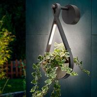 Applique à LED avec pot de fleurs Applique d'extérieur Lampe d'extérieur esotec 201207