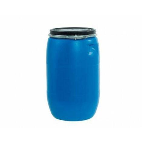 Bidón de plástico con boca ancha de 120 litros