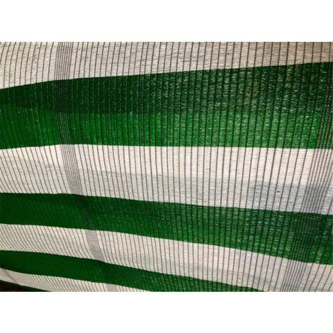 Malla de Ocultacion Bicolor - Metro lineal Verde y Blanco - 1,5 m. de ancho