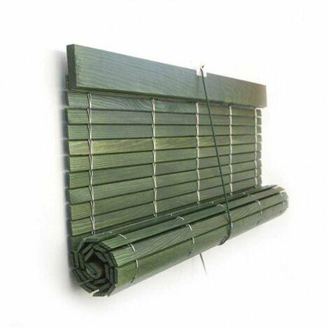 Persiana Madera Verde Rustico - 97 x 105 cm