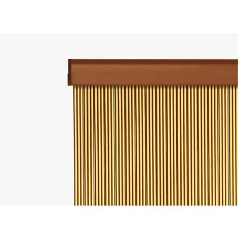 Cortinas de cinta Granada 70 X 220 cm - color :Verde-simple - Verde-simple