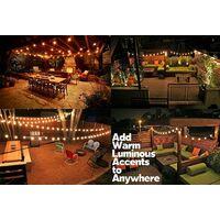 Guirlande Lumineuse Extérieur, 7.62m 25pcs Ampoules G40 avec 2 Ampoules de Rechange, éclairage extérieur enfichable pour jardin, balcon, terrasse