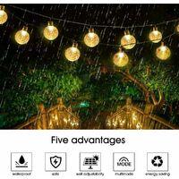 guirlande guinguette solaire blanc 7M 50 LEDs