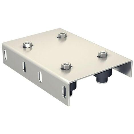 Guide haut réglable pour portail de 30 à 62 mm, 4 olives nylon Ø45