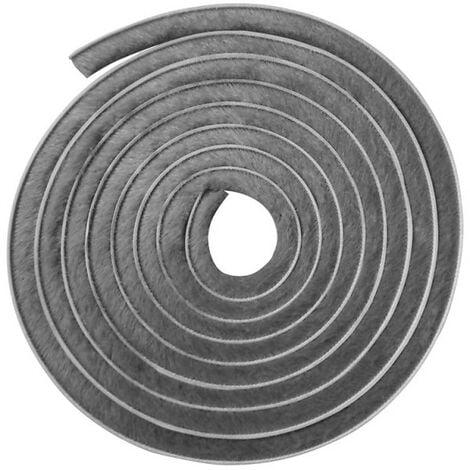 Joint brosse adhésif gris hauteur 16 mm, longueur 5,5 m, largeur 4,8 mm - Gris