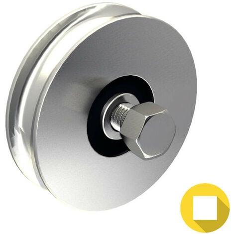 Galet Ø120 mm à gorge ronde Ø16 mm - 225 kg