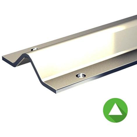 Rail à visser pour galet à gorge triangulaire - portail coulissant 1 500 kg max