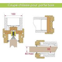 Pack motorisation SLID'UP M300 pour 1 porte coulissante en bois - filaire