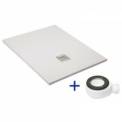 Receveur de douche extra plat QUARTZ blanc Ral 9003 100X120