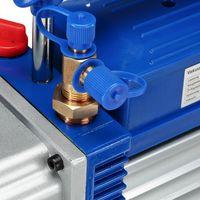 Melko Pompe à vide Pompe à vide à 2 étages Climatiseur Pompe à vide 10CFM avec boîtier en alliage d'aluminium, argent/bleu, 43 x 14,2 x 28 cm