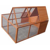 Melko Petit enclos pour animaux Clapier pliant pour lapins Enclos à portée libre env. 160 x 119 x 60 cm, en bois, marron