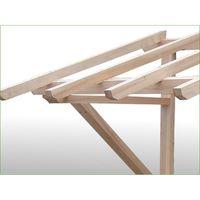 Melko Auvent 2050 mm auvent de comptoir en bois auvent de porte d'entrée auvent en bois