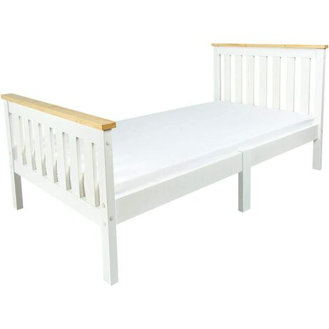 Letto in legno bianco MILANO PINE 140/70 con materasso