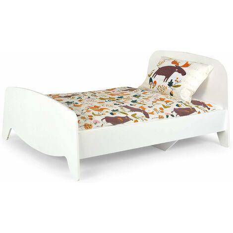 Letto regolabile per bambini in legno colore Bianco - Sofia con materasso 140x90cm