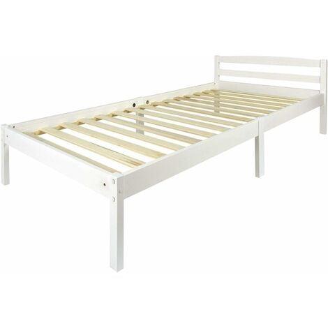 Letto in legno - colore bianco CLASSIC 200/90