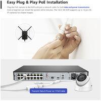 SANNCE KIT Vidéosurveillance avec écran 10.1pouce LCD 4CH DVR + caméra de surveillance HD 1080P Intérieur/Extérieur vision nocture 20m – 4 caméras sans disque dur