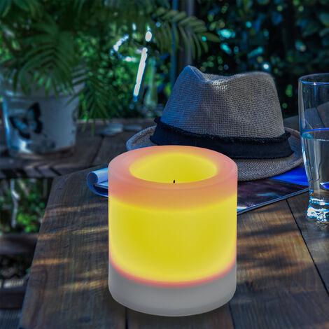Vela solar de 100x100mm LED decorativa de jardín esotec 102233