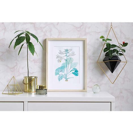Papier Peint Intissé Blanc, Beige Bois/Pierre - Motif, Moderne - Pour Chambre à Coucher, Salon ou Cuisine - Fabriqué en Allemagne - 10,05 x 0,53m - 31738