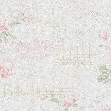 Papier peint fleurs beige pink rouge pour la cuisine chambre salon 956671 livingwalls Djooz