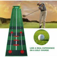 Qdreclod Tapis de Putting de Golf 0.5 * 3m, Professionnel Tapis d'entraînement de Golf à Domicile, Tapis de Practice Golf pour Cour Intérieure Extérieure