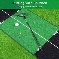 Tapis de golf vert épais et lisse pour entraînement à la maison, au bureau, à la maison ou au golf avec marqueurs de distance