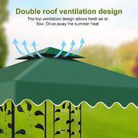 Toile Tonnelle 3x3 Toile de Rechange pour Pavillon/Tonnelle de Jardin, Toiture de Rechange pour Tonnelle Tente,100% Étanche + 300D Polyester