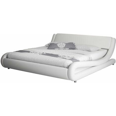 Lit double Alessia – blanc 140x190cm