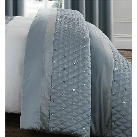 Catherine Lansfield Sequin Cluster Bedspread Duck egg, 240x260cm