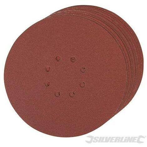 Lot de 10 disques auto-agrippants perforés 225mm, Grain 120, 225 mm