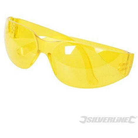 Lunettes de sécurité à protection anti-UV, Jaune, Jaune