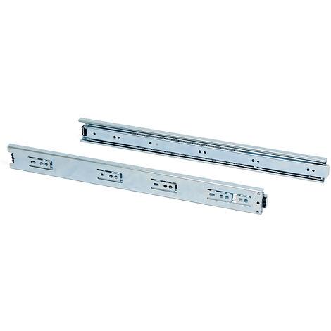 Paire de coulisses a billes pour tiroirs à sortie totale, hauteur 45 mm