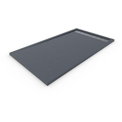Receveur de douche DELUXE avec cadre 80x100 cm Gris foncé