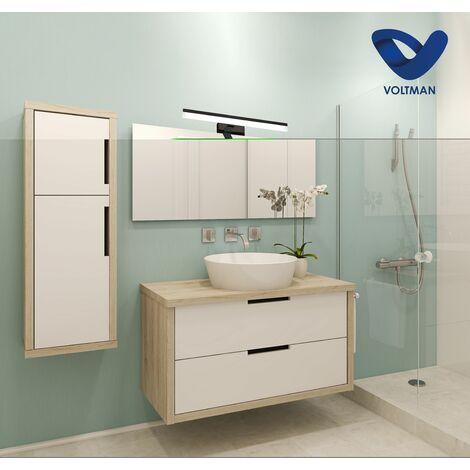 Applique salle de bain 57cm Noir - GAMMA techno OPTICARE™ - VOLTMAN - IP44 12W 4000K 960Lm - Noir