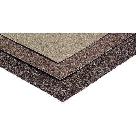 3 feuilles papier à poncer corindon 230x280mm Fin (grain 120)