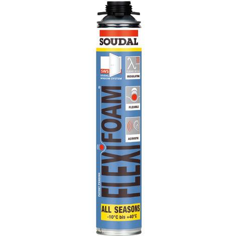 Mousse polyuréthane pistolable - Flexifoam 750ml
