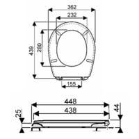 Abattant WC standard Bastia Blanc