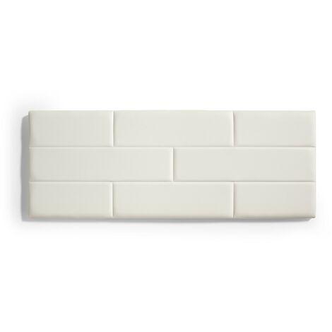 Cabecero de Cama 80 Muro Ladrillos de Polipiel 112x57x5cm Blanco