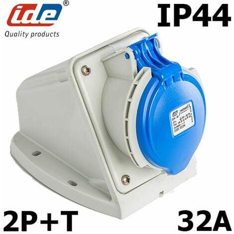 Socle de prise 32A 2P+T en saillie étanche IP44 ou IP67 IP44 - Socle 32A - 2P+T - Mural - 230V