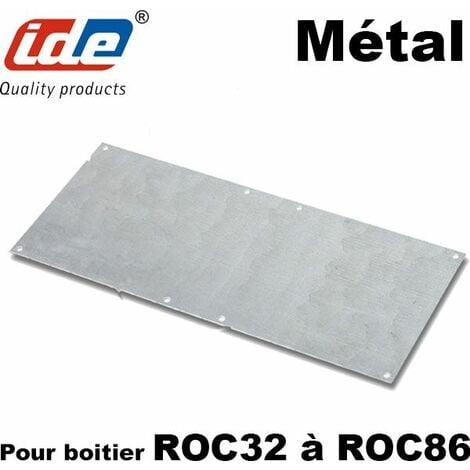 Plaque métallique pour BOITIER polyester ROC 220x130mm - ROC32