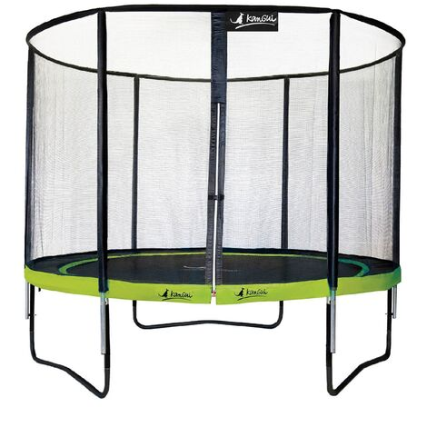 Trampoline de jardin rond 305 cm + filet de sécurité   PUNCHI Vert 300 - Vert